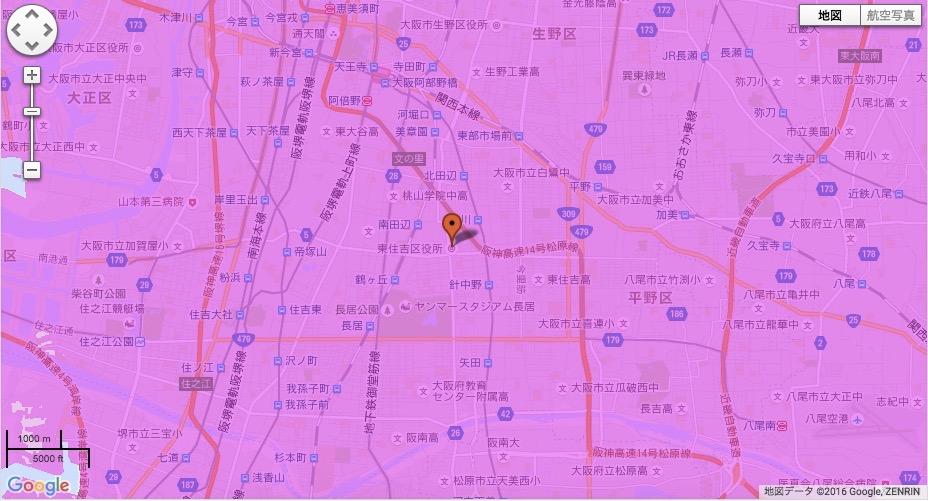 大阪市東住吉区
